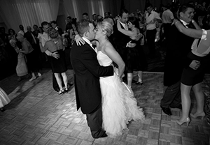 wedding couple first dance at the Vale Hotel Miskin