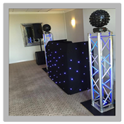 njb discos wedding setup